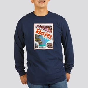 'Haiti Mina 2008' Long Sleeve Dark T-Shirt