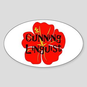 Cunning Linguist Oval Sticker