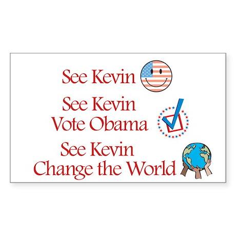 See Kevin Vote Obama Rectangle Sticker