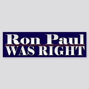 Ron Paul Cool Political Bumper Sticker