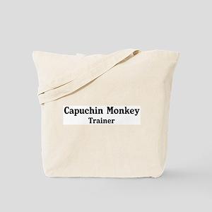 Capuchin Monkey trainer Tote Bag