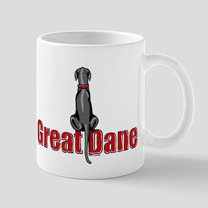 Black Great Dane UC Sit Mug