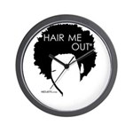Hair Me Out Wall Clock