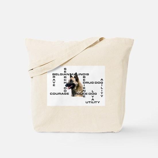 BELGIAN MALINOIS CROSSWORD Tote Bag