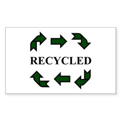 Recycled Rectangle Sticker 10 pk)
