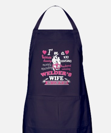 Unique I love hot moms Apron (dark)