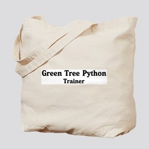 Green Tree Python trainer Tote Bag
