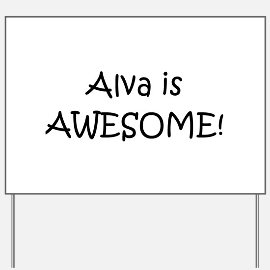 Alva Yard Sign