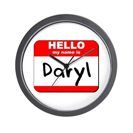 Hello my name is Daryl Wall Clock