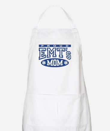 Proud EMT's Mom BBQ Apron