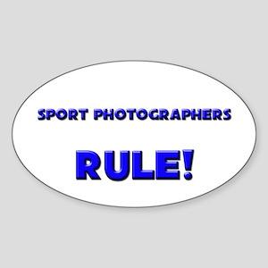 Sport Photographers Rule! Oval Sticker