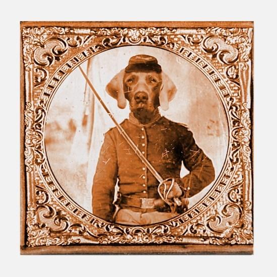 Weimaraner WILBER Tile Coaster