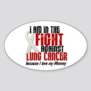 In The Fight 1 LC (Mommy) Oval Sticker