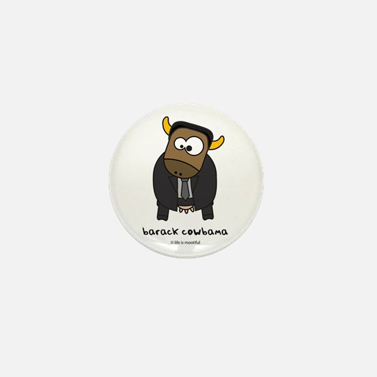 barack cowbama Mini Button