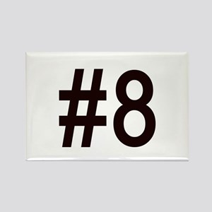 #8 for baby number eight. Rectangle Magnet