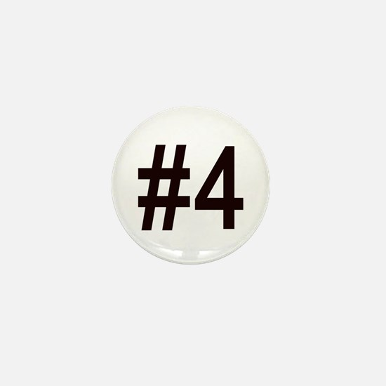 #4 birth order baby number four Mini Button