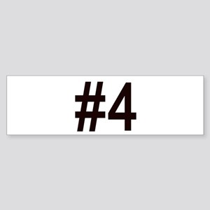 #4 birth order baby number four Bumper Sticker