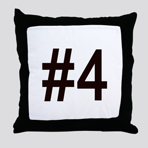 #4 birth order baby number four Throw Pillow