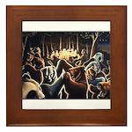 Dancing Bears Painting Framed Tile