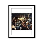 Dancing Bears Painting Framed Panel Print