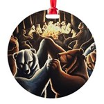 Dancing Bears Painting Round Ornament