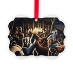 Dancing Bears Painting Picture Ornament