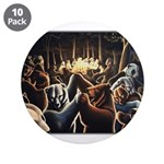 """Dancing Bears Painting 3.5"""" Button (10 pack)"""