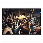"Dancing Bears Painting Square Car Magnet 3"" x 3"""