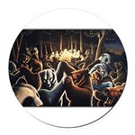 Dancing Bears Painting Round Car Magnet