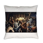 Dancing Bears Painting Everyday Pillow