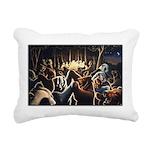 Dancing Bears Painting Rectangular Canvas Pillow