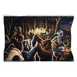 Dancing Bears Painting Pillow Case