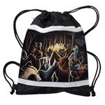 Dancing Bears Painting Drawstring Bag
