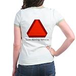 Slow Moving Vehicle Sign - Jr. Ringer T-Shirt
