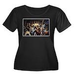 Dancing Bears Painting Plus Size T-Shirt