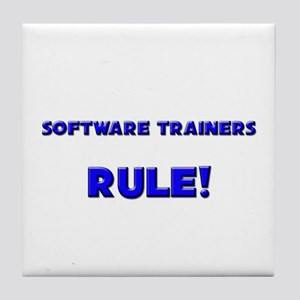 Software Trainers Rule! Tile Coaster