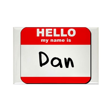 Hello my name is Dan Rectangle Magnet (10 pack)
