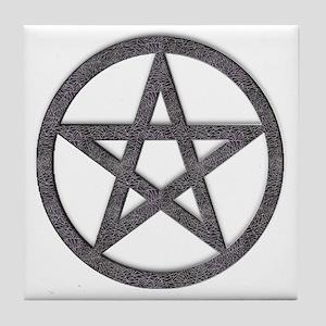 Spiderweb Pentagram Tile Coaster