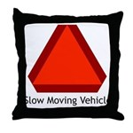 Slow Moving Vehicle Sign - Throw Pillow