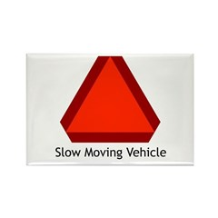 Slow Moving Vehicle Sign - Rectangle Magnet (10 pa