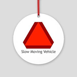 Slow Moving Vehicle Sign - Keepsake (Round)