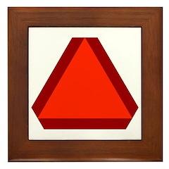 Slow Moving Vehicle Sign - Framed Tile