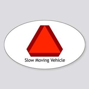 Slow Moving Vehicle Sign - Oval Sticker