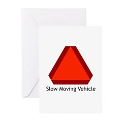 Slow Moving Vehicle Sign - Greeting Cards (Package