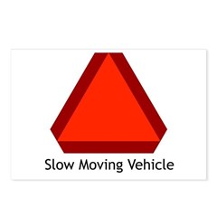 Slow Moving Vehicle Sign - Postcards (Package of 8