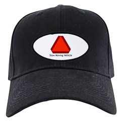 Slow Moving Vehicle Sign - Black Cap