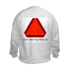 Slow Moving Vehicle Sign - Kids Sweatshirt