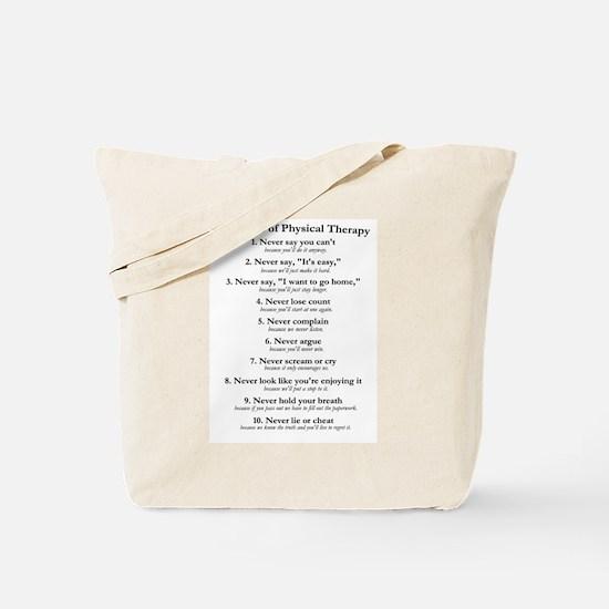 Laws of P.T. Tote Bag