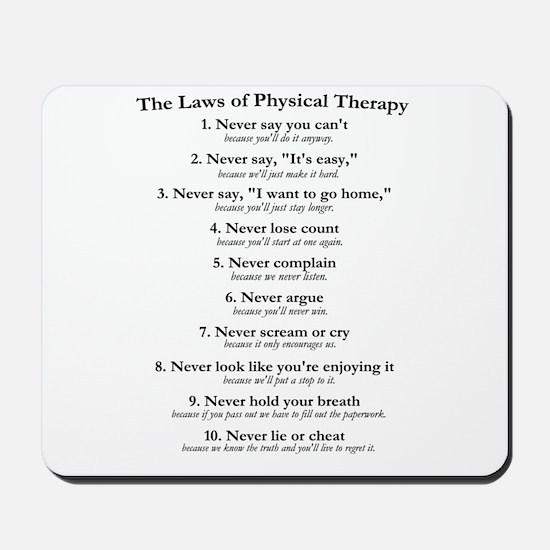Laws of P.T. Mousepad