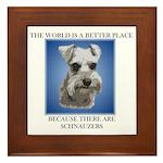 World is a Better (blue)- Framed Tile